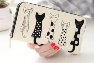 Peněženka CATS krémová