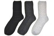 Pánské zdravotní bambusové ponožky PESAIL - 3 páry, mix barev, velikost 40-43
