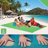 Plážová podložka - Sand Free - L zelená