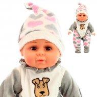 Panenka miminko se zvuky v pyžamku s měkkým tělíčkem - délka 30cm