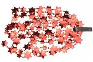 Vánoční řetěz s hvězdami DECORIS (2.6x270cm) - Červený