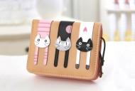 Peněženka LADY-CAT mini krémová