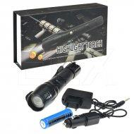 LED baterka se zoomem - T6 LUXEON