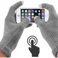 Dotykové rukavice pro smartphony a tablety - šedé