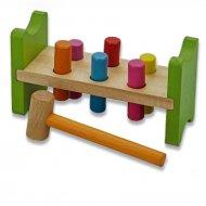 Dřevěná hračka GAZELO (18cm) - Zatloukání kolíků