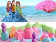Tekutý kinetický písek - Kinetic Sand  - plastový box - MEGA SET 2kg