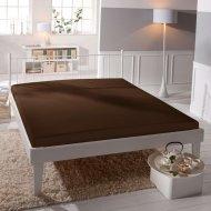 Jersey prostěradlo Premium Bed lycra DeLuxe - Tmavě hnědé