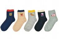 Dámské ponožky s jídlem AURAVIA - 5 párů, mix motivů, velikost 35-38