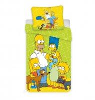 Povlečení Simpsons green 02 140/200, 70/90