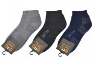 Pánské kotníkové termo ponožky MAN THERMO - 3 páry, mix barev, GOLF PRO, velikost 39-42
