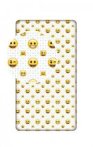 JERRY FABRICS Prostěradlo Emoji Bavlna, 213 90/200 cm