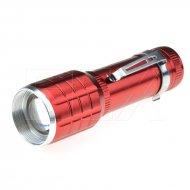 Hliníková LED baterka s kuželem - 015 - Červená