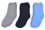 Dětské chlupaté ponožky KIDS - 3 páry, mix barev, velikost 22-25