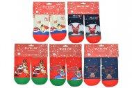 Dámské termo ponožky AURAVIA - 5 párů, vánoční motivy, velikost 38-41