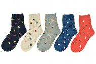 Dámské ponožky AURAVIA - 5 párů, mix motivů, velikost 35-38