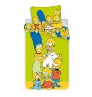Povlečení Simpsons Family green 140/200, 70/90