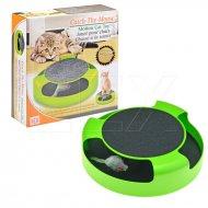 Hračka pro kočky s myší a drápadlem - Zelená