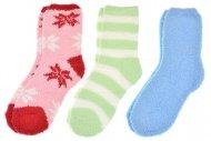 Dámské chlupaté termo ponožky EMI ROSS - 3 ks, mix barev, velikost 35-38