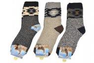 Pánské hřejivé ponožky AMZF - 3 páry, mix barev, velikost 40-43