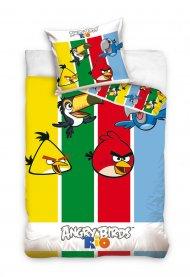 Povlečení Angry Birds pruhy 140/200 + 70/80