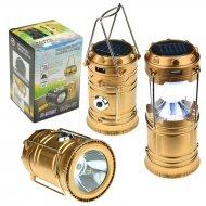 Mini solární kempingová LED lampa - JY-5700T - Zlatá