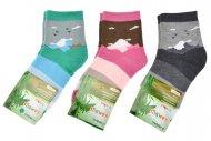 Dětské bambusové ponožky PESAIL - 3 páry, mix barev, velikost 31-34