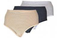 Klasické kalhotky s puntíky TINA SHAN - 1 ks, mix barev, velikost 4XL