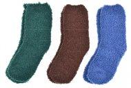 Dětské chlupaté ponožky KIDS - 3 páry, mix barev, velikost 31-34