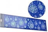 Vánoční nálepka na sklo (59x14.5cm) - Třpytivé vločky