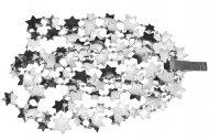 Vánoční řetěz s hvězdami DECORIS (2.6x270cm) - Stříbrný