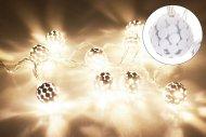 Svítící koule na baterie DECORATIVE 10LED (120x2.5cm) - Bílé, teplá bílá