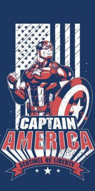 Osuška Avengers Kapitán Amerika 70/140
