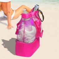Plážová taška s termo priehradkou - ružová