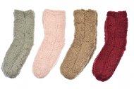 Dámské hřejivé domácí ponožky s protiskluzovou podrážkou VIRGINA - 1 pár, mix barev, velikost 38-41