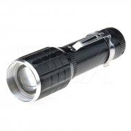 Hliníková LED baterka s kuželem - 015 - Černá