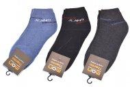 Pánské kotníkové termo ponožky MAN THERMO - 3 páry, mix barev, JEANS, velikost 39-42