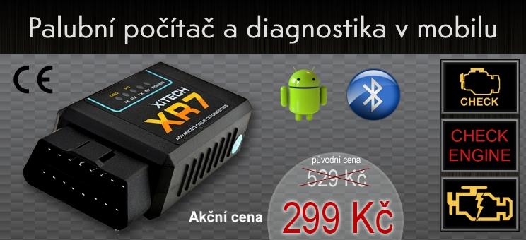 Palubní počítač a Diagnostika auta v mobilu. ELM327 OBDII ELM 327
